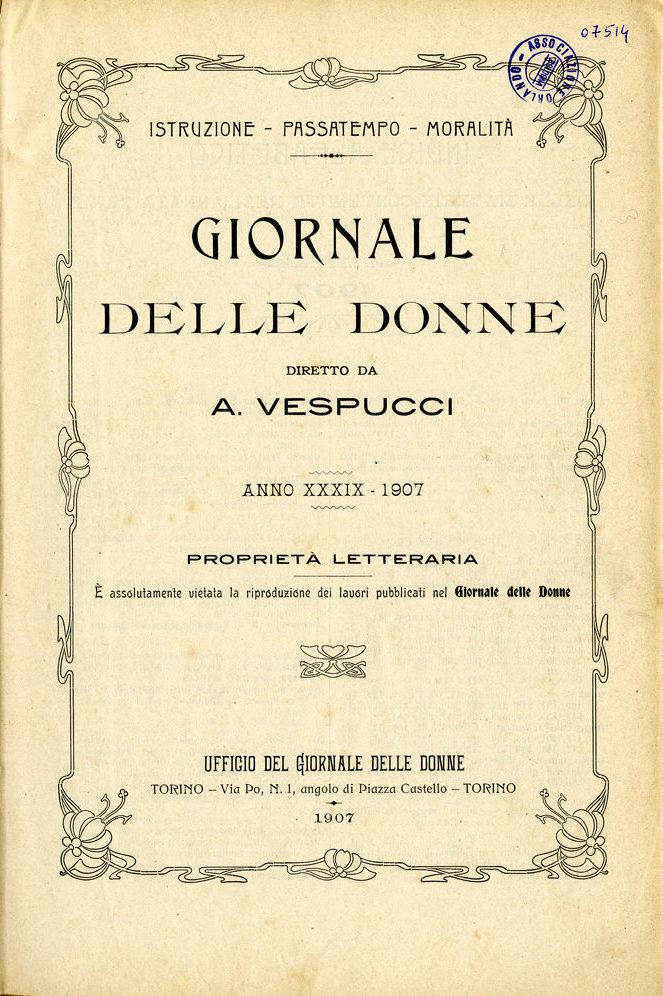 Giornale delle donne 1907
