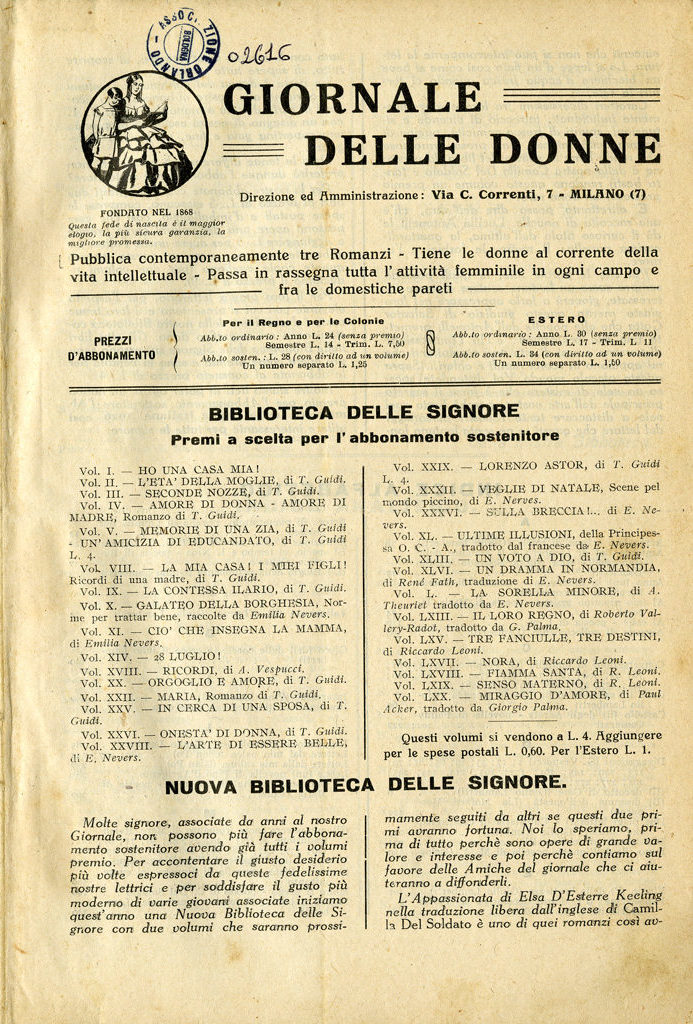 Giornale delle donne 1925