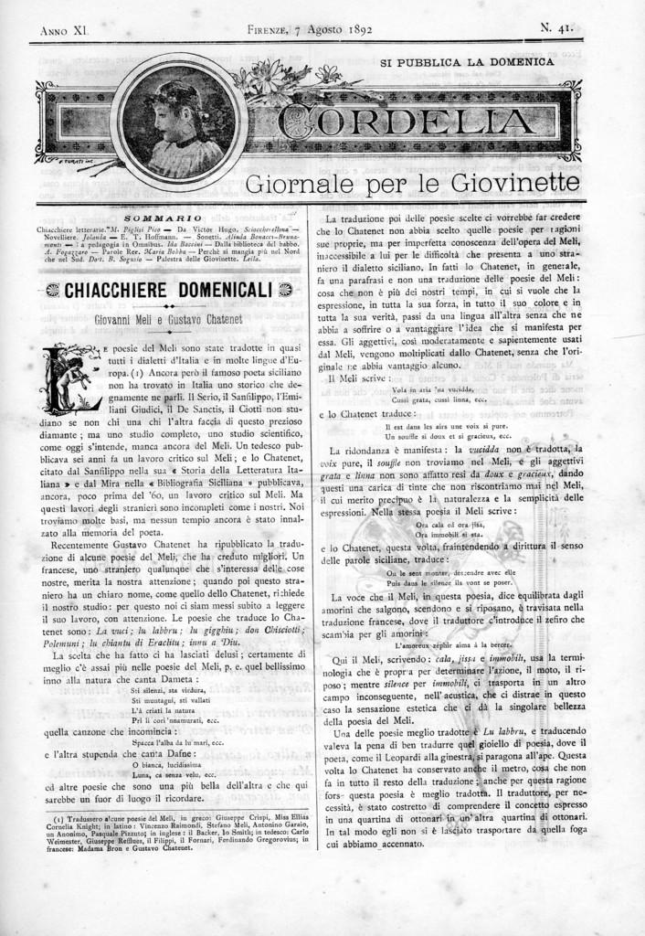 Cordelia. Giornale per le giovinette 1892, n. 41-44