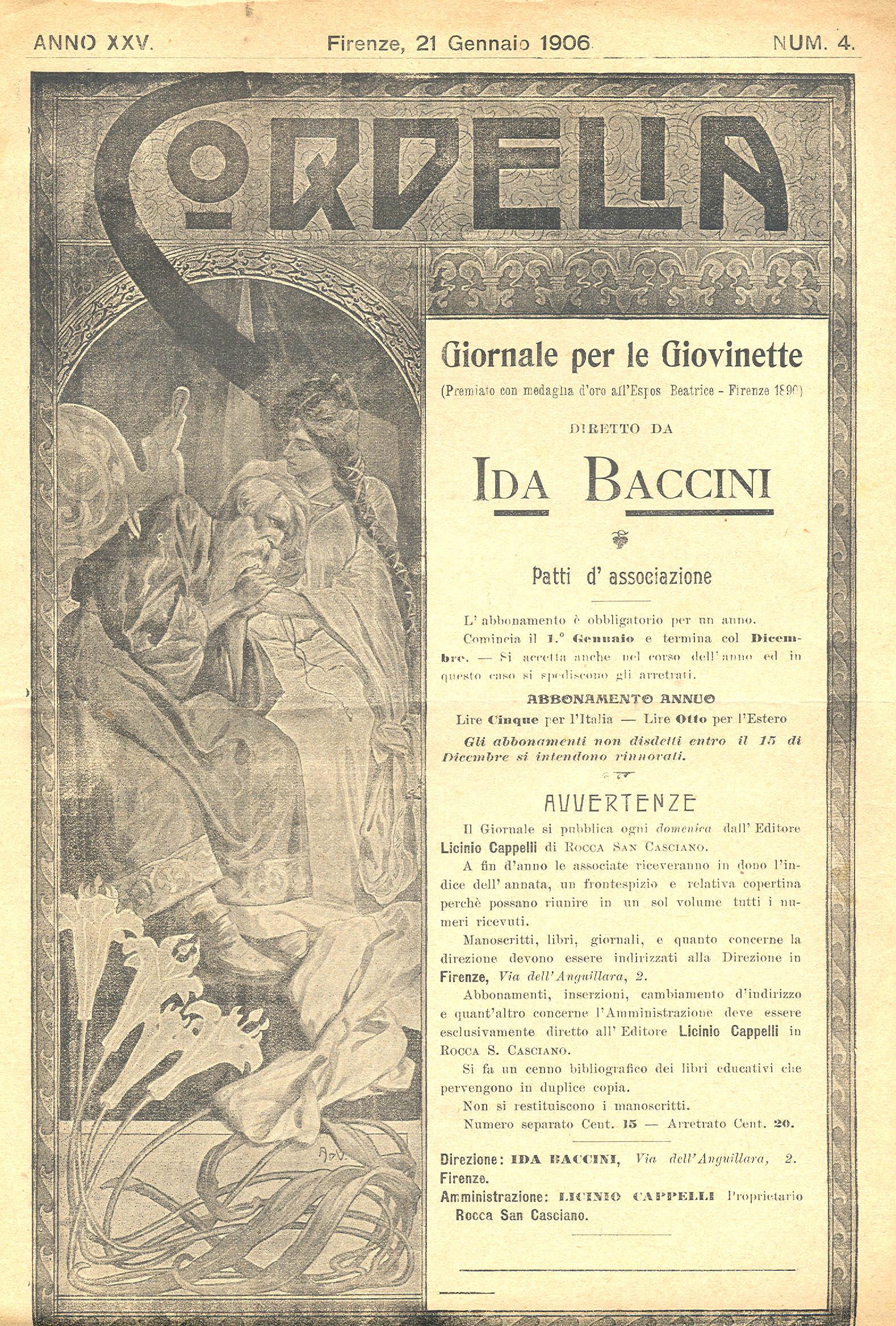 Cordelia. Giornale per le giovinette 1906, n. 4