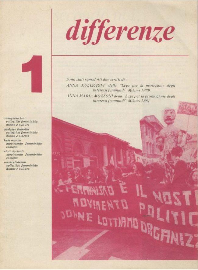 Differenze 1976, n. 1