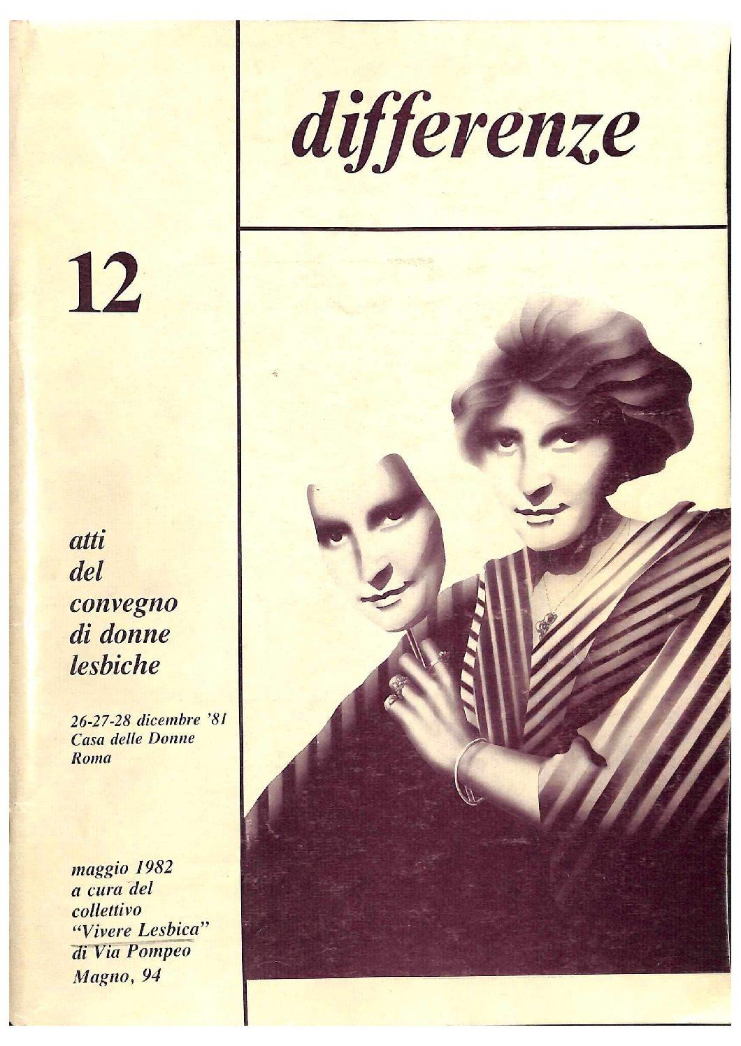 Differenze 1982, n. 12