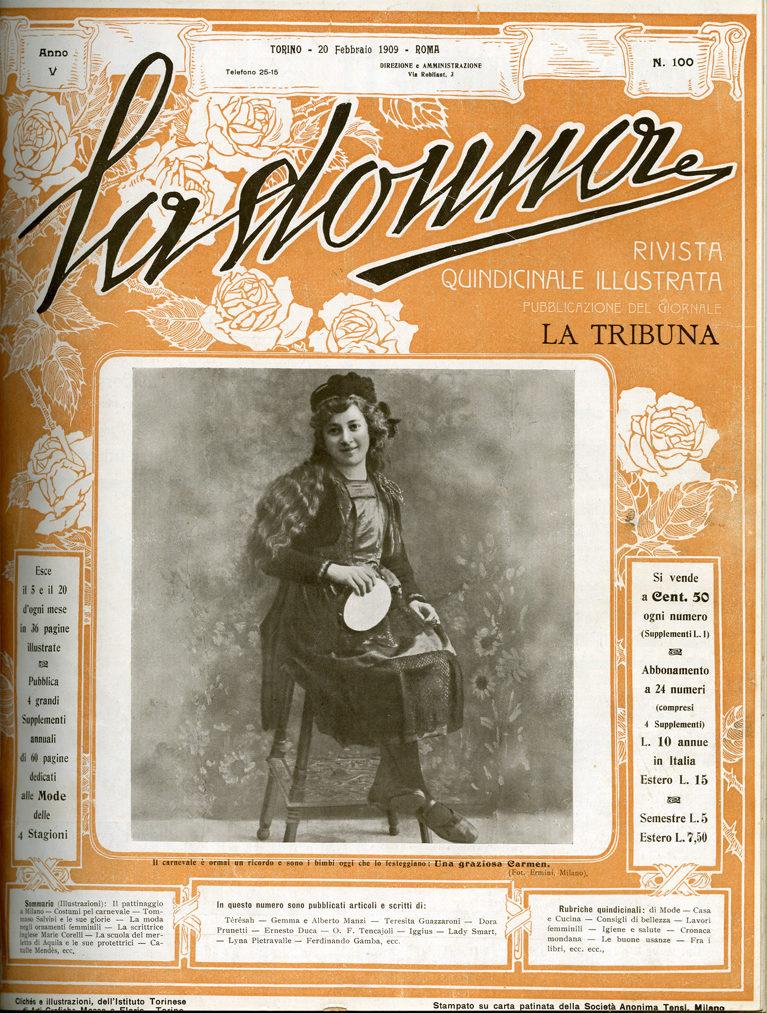 La donna. Rivista quindicinale illustrata 1909, n. 100
