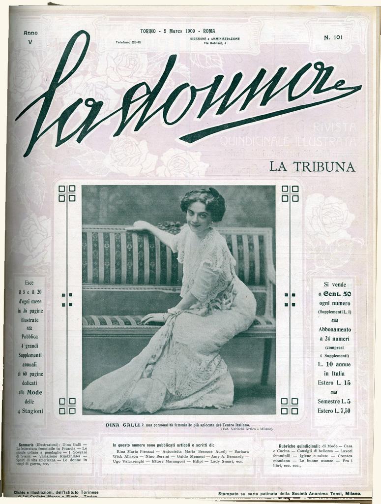La donna. Rivista quindicinale illustrata 1909, n. 101