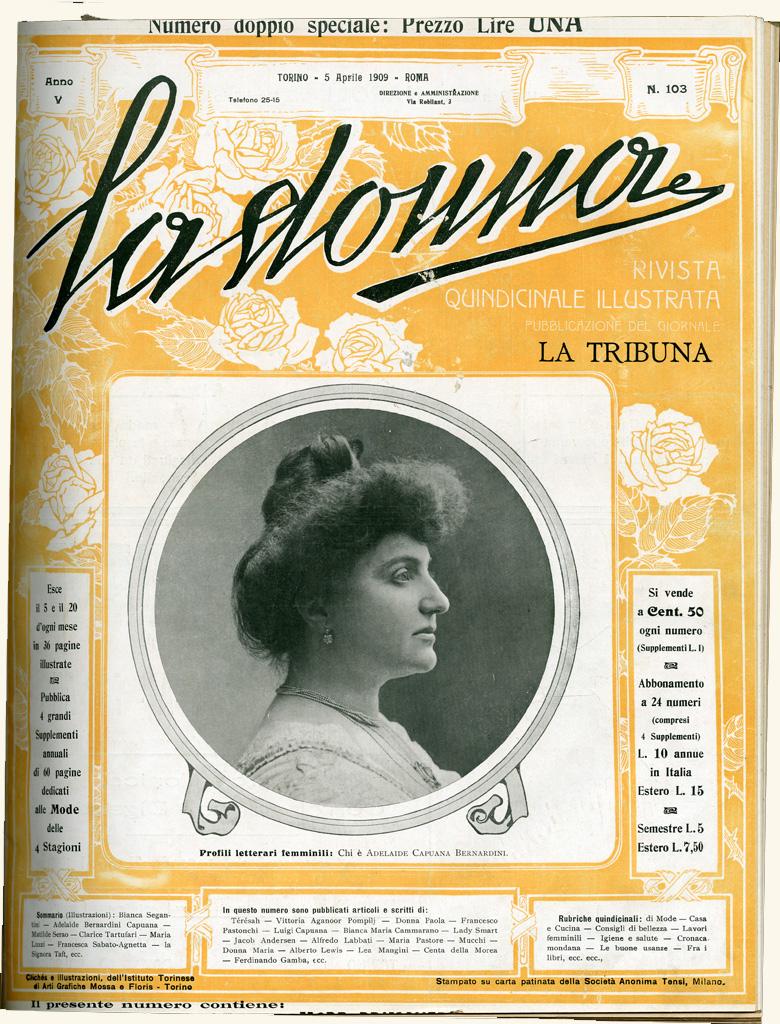 La donna. Rivista quindicinale illustrata 1909, n. 103