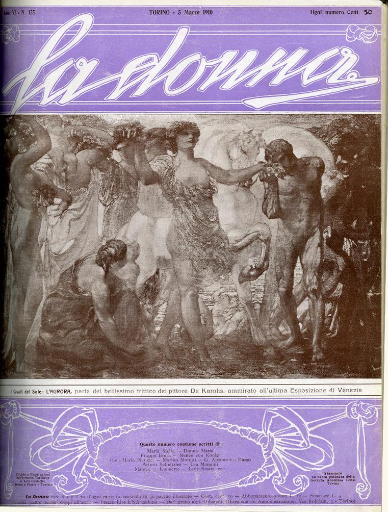 La donna. Rivista quindicinale illustrata 1910, n. 125
