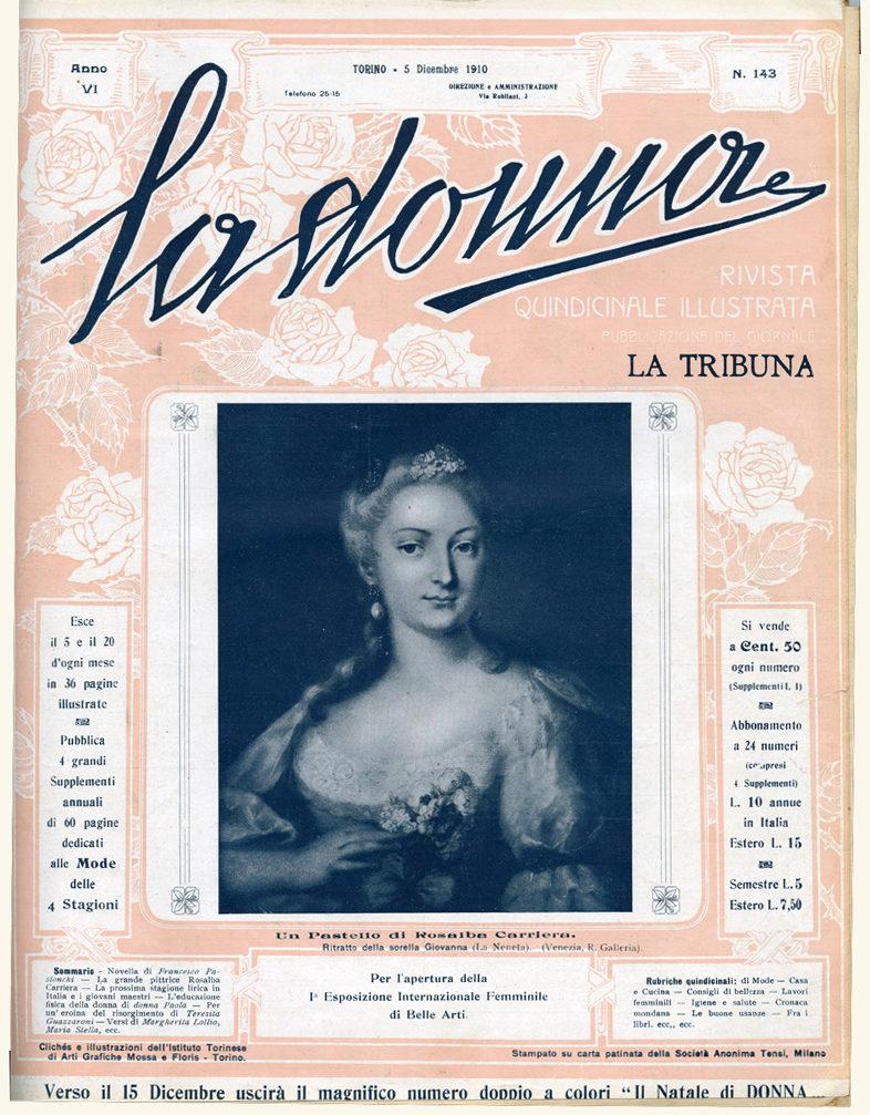 La donna. Rivista quindicinale illustrata 1910, n. 143