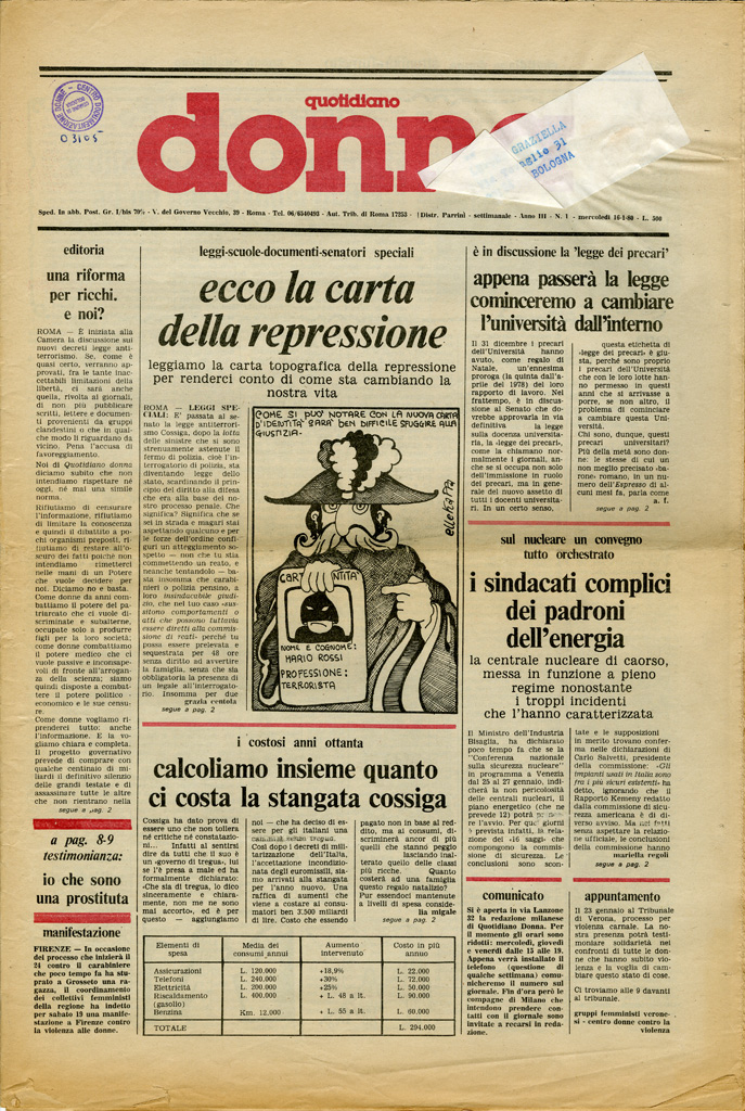 Quotidiano donna 1980, n. 1