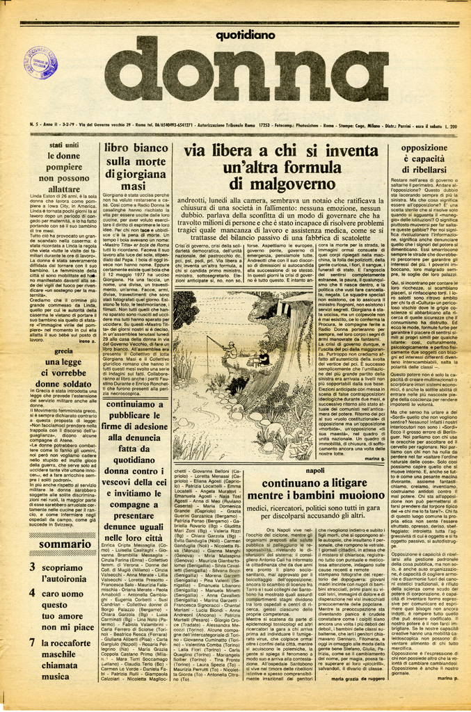 Quotidiano donna 1979, n. 5