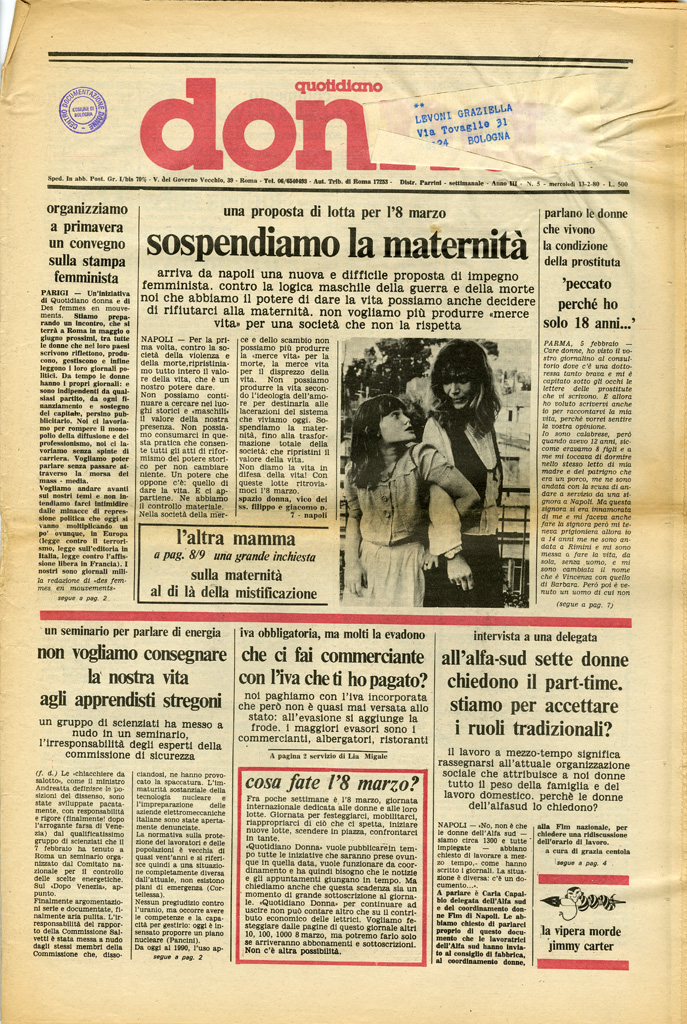 Quotidiano donna 1980, n. 5