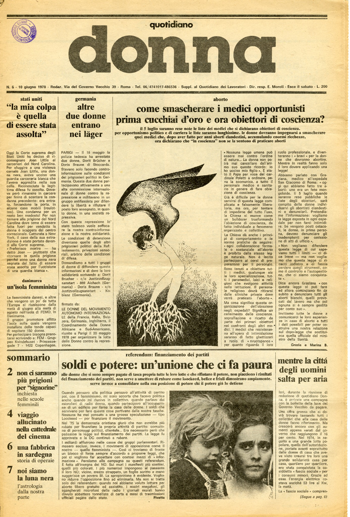 Quotidiano donna 1978, n. 6