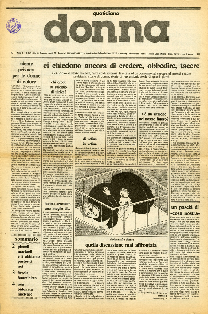 Quotidiano donna 1979, n. 6
