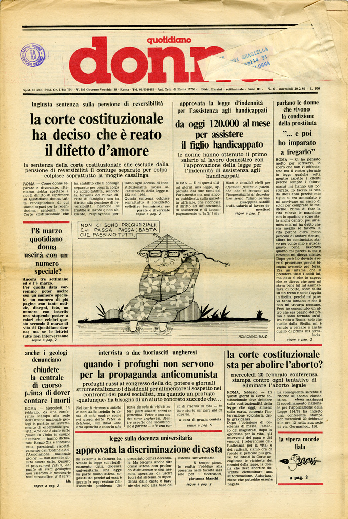 Quotidiano donna 1980, n. 6