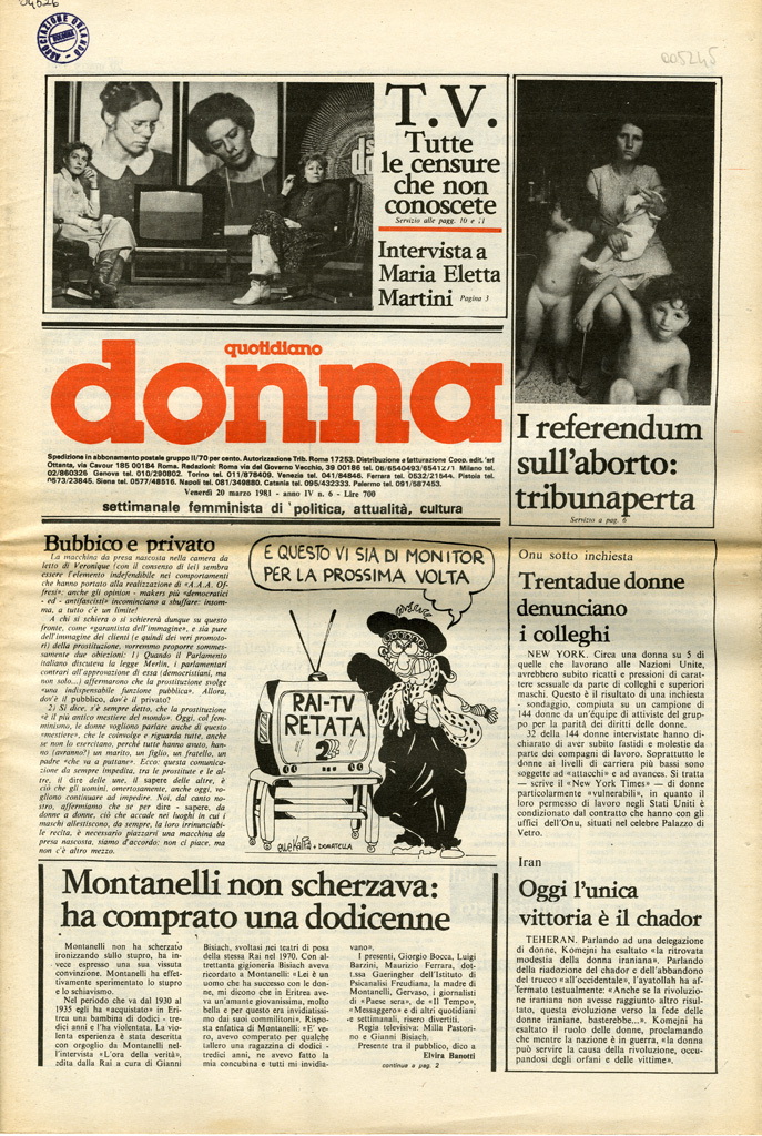 Quotidiano donna 1981, n. 6