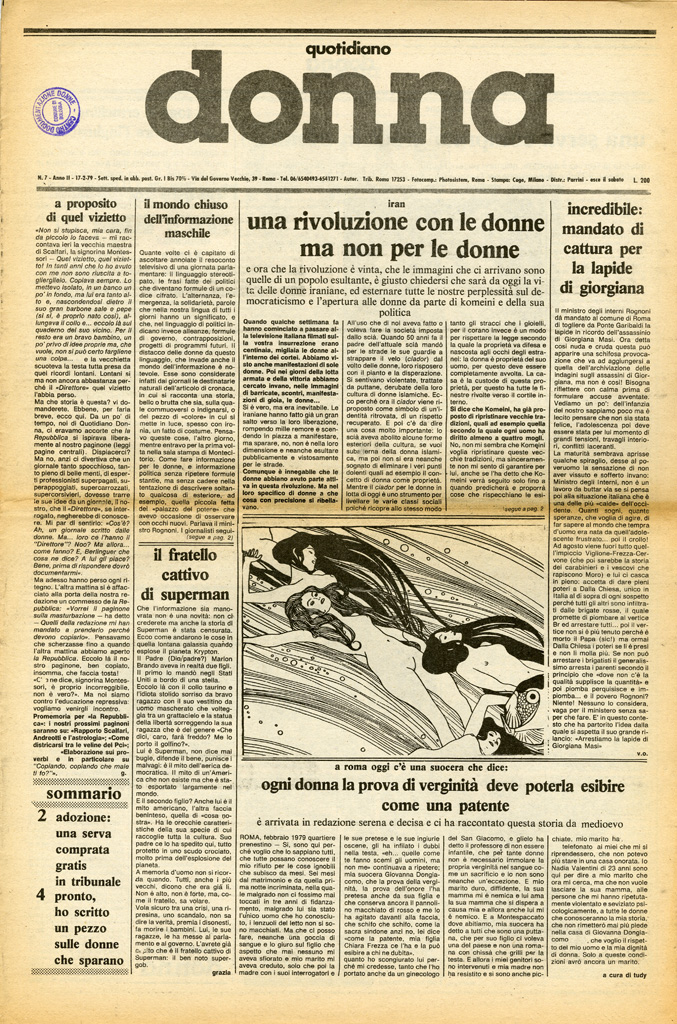 Quotidiano donna 1979, n. 7