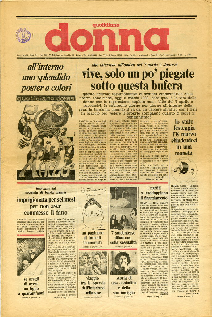 Quotidiano donna 1980, n. 7