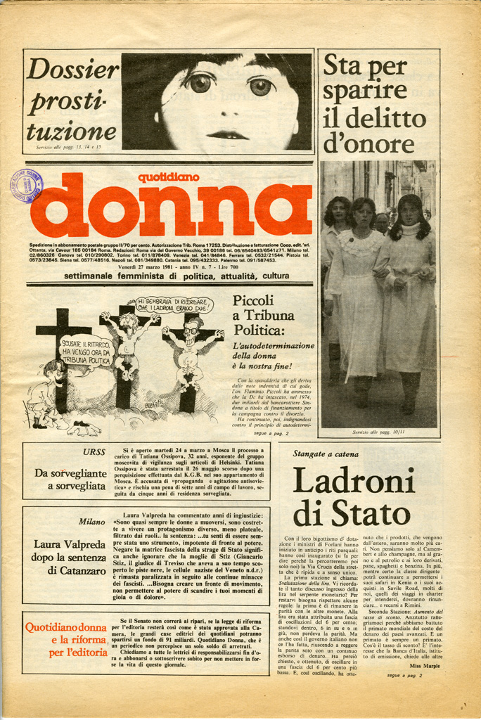 Quotidiano donna 1981, n. 7