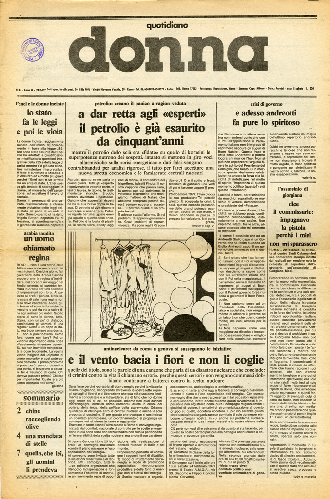 Quotidiano donna 1979, n. 8