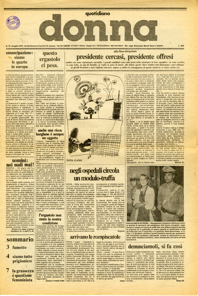Quotidiano donna 1978, n. 10