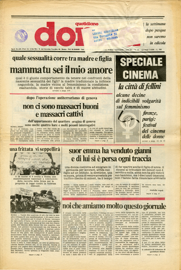 Quotidiano donna 1980, n. 11