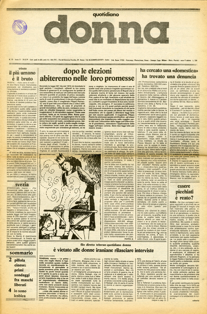 Quotidiano donna 1979, n. 12