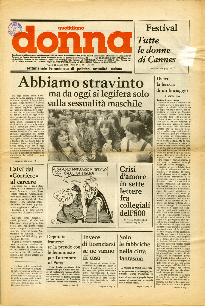 Quotidiano donna 1981, n. 14