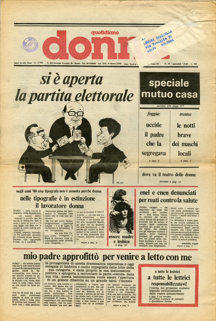 Quotidiano donna 1980, n. 15