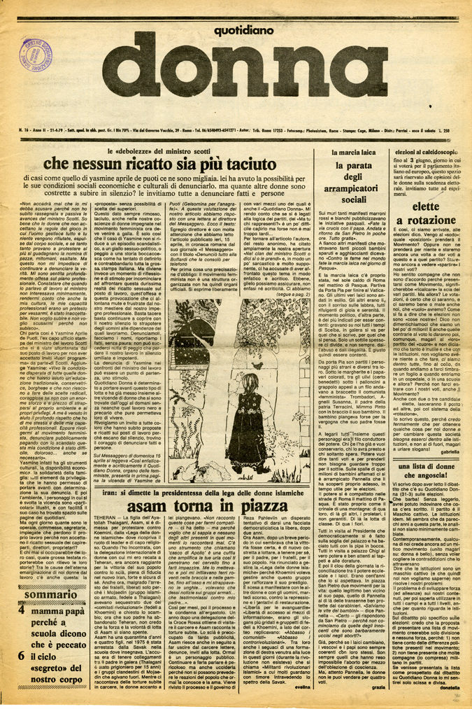 Quotidiano donna 1979, n. 16