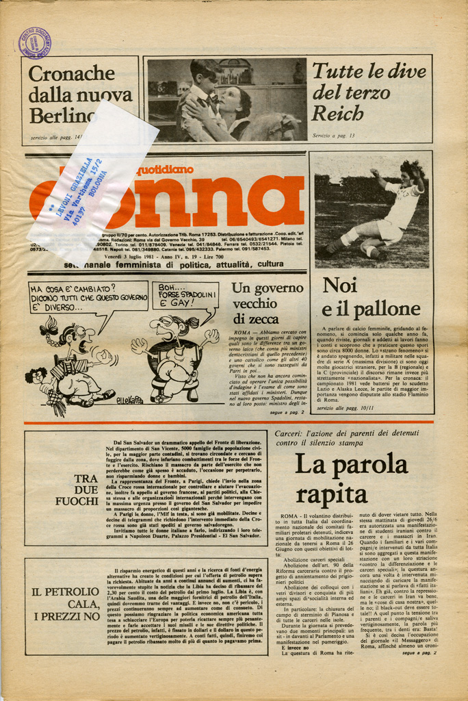 Quotidiano donna 1981, n. 19