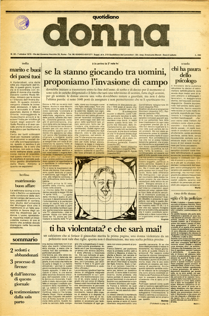 Quotidiano donna 1978, n. 20