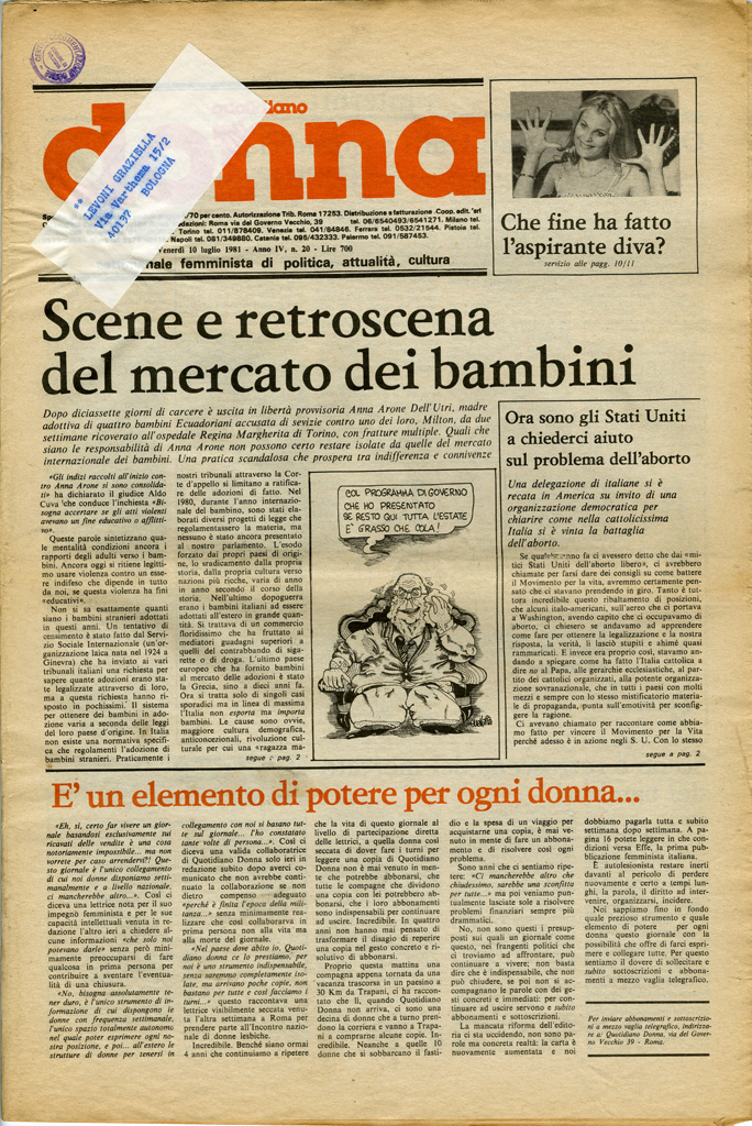 Quotidiano donna 1981, n. 20