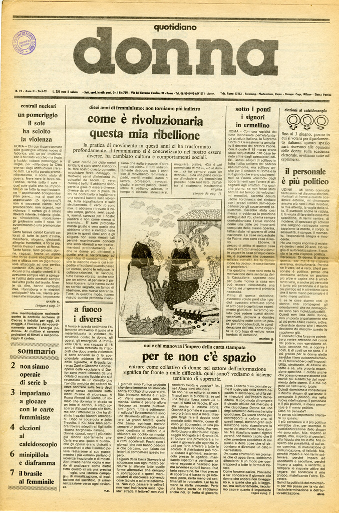 Quotidiano donna 1979, n. 21