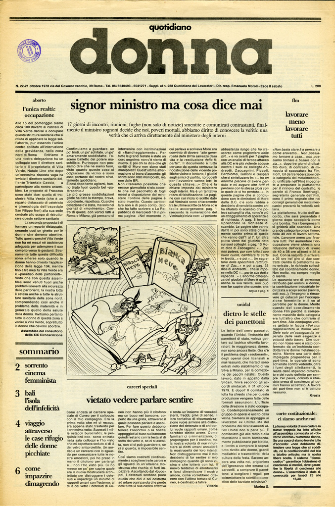 Quotidiano donna 1978, n. 22