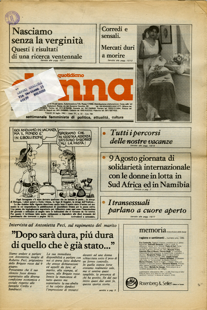Quotidiano donna 1981, n. 22