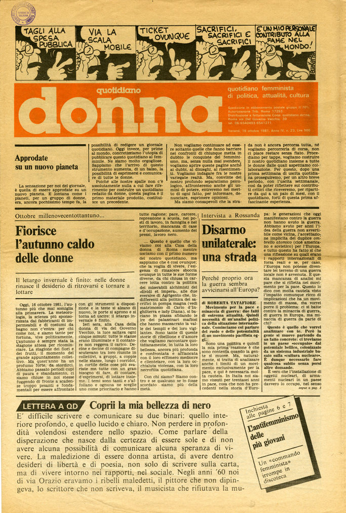 Quotidiano donna 1981, n. 23