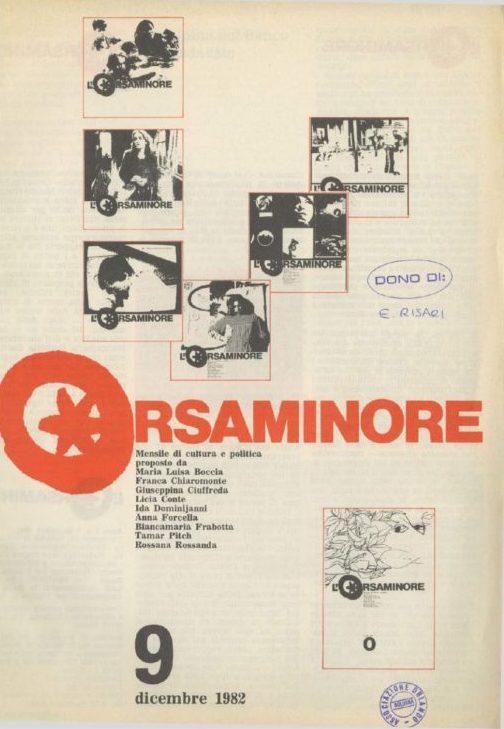 L'Orsaminore. Mensile di cultura e politica 1982, n. 9