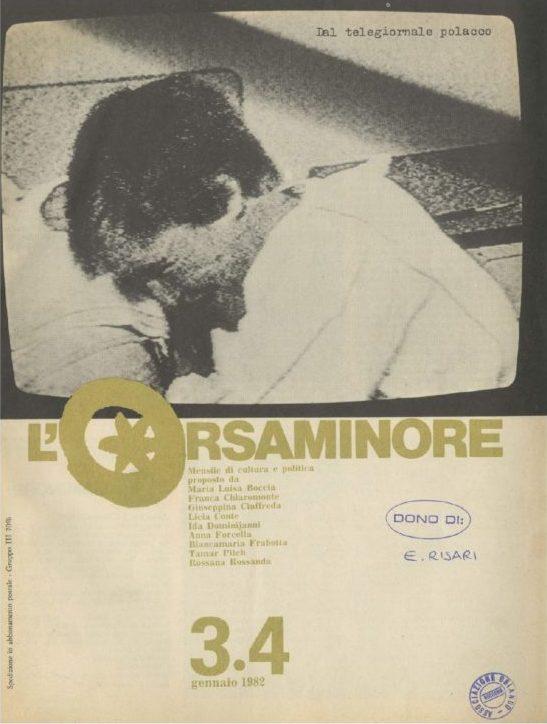 L'Orsaminore. Mensile di cultura e politica 1982, n. 3-4