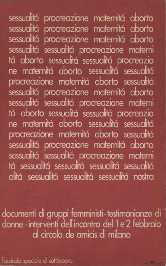 Sottosopra 1975, n. 3